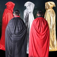 Wholesale Ghost Suit - Adults halloween cosplay Costumes cape death cloak tail children Halloween clothing devil witches hooded smock wholesale Free express