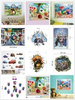 Wholesale Insects Wall Kids Decals - Mix Order PVC Cartoon Wall Sticker Decorative Decals Insect Animal Movie Poster Window Wall Decors Home Decoration Wall Art 50pcs lot DHL