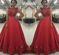 Wholesale Dark Green Rose Petals - Gorgeous Red Sheer Applique Beads Prom Dresses 2017 Sleeveless A Line Rose Petals Floor Length Evening Gowns South African Party Dresses
