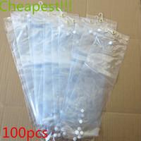 extensões de cabelo bolsas venda por atacado-Atacado sacos de plástico pvc para embalagem extensão do cabelo transparente sacos de embalagem de plástico saco de opp (16 ~ 22 polegadas) saco de embalagem da peruca