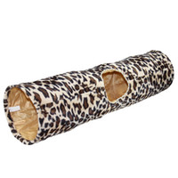 Wholesale Thermal Cat Mat - The new shelves leopard cat channel thermal folding roll Lumbricus cat tunnel 90CM*25CM