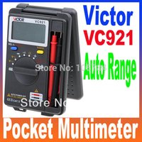 Wholesale Victor Vc921 Pocket Digital Multimeter - Wholesale-VICTOR VC921 3 3 4 DMM Integrated Personal Electrical Handheld Pocket Mini Digital Multimeter Ammeter Auto Range Tester Free