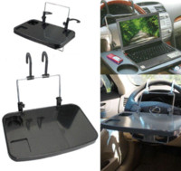 Wholesale Tablet Drink - Guaranteed 100% Car Auto Laptop Tablet PC For iPad Mount Stand Holder Desk Table Drink Food Cup Tray Free Shipping Wholesale