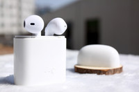 Wholesale Wholesale Iphone Headphones Box - NEW I7S TWS Wireless Bluetooth Earbuds Twins Headphones with Charger Box for Apple Iphone X 8 7 Plus Android Samsung Sony Earphones 1