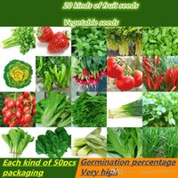 Wholesale 1000pcs organic vegetable seed package packaging types of four sowing summer fruit garden balcony vegetables potted spinach onion