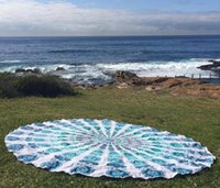 Wholesale Vintage Beach Towels - New Round Beach Towel Sarong bath towels Party wedding Christmas decorations cotton printed table cloth vintage yoga picnic mat wall decor