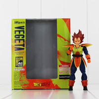 Wholesale Shipping Status - 15CM SHFiguarts Dragon Ball Z Vegeta Battle Status PVC Action Figure Collectible Model Toy for kids gift free shipping EMS