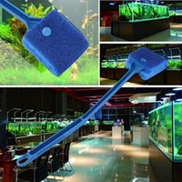 Pratico acquario Fish Tank Algae Cleaner Glass Scraper Brush Plant Easy 2 Head Cleaning Brush
