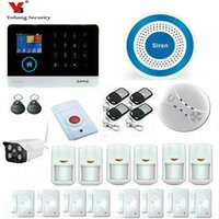 Wholesale Home Alarm System Waterproof - Wholesale- YobangSecurity IOS Android APP GSM WIFI GPRS RFID Home Burglar Alarm Security System With Waterproof Outdoor WIFI IP Camera