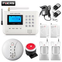 LCD Keyboard Wireless Home GSM PSTN Sistemas de alarme House auto-identificador inteligente Burglar Security Alarm System kit + WIFI camera