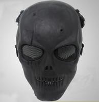schädelmasken militär groihandel-Neue Airsoft Maske Schädel Volle Schutzmaske Militärische Festliche Party Supplies Parteimasken