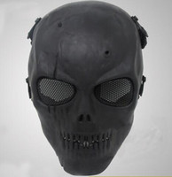 Wholesale airsoft skull mask online - New Airsoft Mask Skull Full Protective Mask Military Festive Party Supplies Party Masks