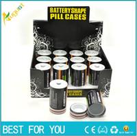 Wholesale containers sales - Hot sale Battery Secret Stash Diversion Safe Pill Box Hidden Money Coins Container Case