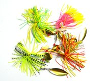 Spinnerbaits spinnerbait skirts - HENGJIA G oz Metal Spinnerbait Fishing Lure Spoon Fresh Water Shallow Water Bass Walleye Silicone Skirt Jig Sequins