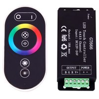 Panneau tactile rf Prix-5PCS GT666 18A RF Wireless Touch RVB LED Controller pour RGB LED Strips 6Ax3 Channel Touch Panel
