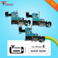 Wholesale Port Tests - for iPhone 6 4.7inch Dock Connector Charger Charging Port Flex Cable Headphone Audio Jack Replacement Repair Parts 100% Tested High Quality