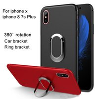 Wholesale Case Car Battery - For iPhone x iphone 8 7S plus 6S Mobile Phone Cases Galaxy S8 plus OPPO r11 R9S HuaWei P10 Car Holder Phone Ring TUP Protection cover shell