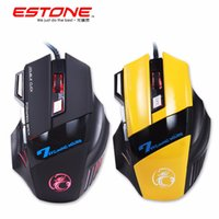Atacado- TK Estone X7 Gaming Mouse Optical USB Wired Computer Mouse Mause 7 Botão 3200DPI Breathing Led Light para PC Laptop Desktop Gamer