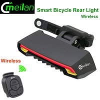 Wholesale Bicycle Turn Signals Led - Meilan Smart Bicycle Light Bike Rear Remote Wireless Light Turn Signal LED Tail Light Laser Beam USB Chargeable Cycling