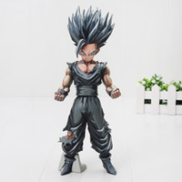 Wholesale Doll Toys Color - 23cm Japan Anime Dragon Ball Z Toy Son gohan Chocolate color Version MSP PVC Action Figure model Toys Doll collection gifts