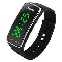 Wholesale Silicon Sport Wristwatch - SKMEI Sports Watches Women Fashion Casual LED Digital Wristwatches Silicon Strap Complete Calendar Relogio Feminino Bracelet Wristwatch