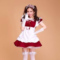 Wholesale Cartoon Games For Girls - Candy Color Maid Outfits Cartoon Costume for Cosplay princess Cute Style Lolita Girls Dress Suits with Plus Size 2XL