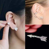 Creative 1PC Bow Arrow Boucles d'oreille en cristal Ear Earrings Jewelry