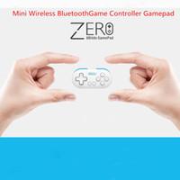mini joystick pc großhandel-8 bitdo null mini drahtlose bluetooth spiel controller gamepad joystick selfie für telefon pc fernauslöser led modus licht