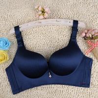 Wholesale Lingeries Pieces - Sexy Lingeries Women bras One-piece gather adjustable plus size 46BC 105BC no rims women's underwear