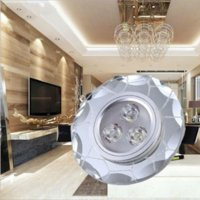 Wholesale Ceiling Lights Cube - Water Cube LED side light emitting crystal ceiling lamp 3w led spot downlight Home improvement background wall decorative lamp