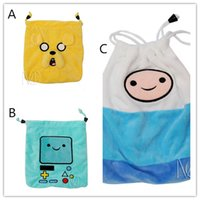 Wholesale Beemo Plush - Adventure Time cartoon Plush Drawstring bag Finn Jake Beemo plush draw string Pouch Cute cartoon buggy bag Christmas Gift Bag