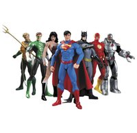 Wholesale dc superman figure for sale - DC Superman Bat Collectibles Justice League Pack Action Figure Superman Model Collection Toy Gift OTH719