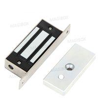 Wholesale Electromagnetic Magnetic Lock - Wholesale-100Lbs 60kg 12V embedded magnetic lock electromagnetic lock cabinet lock door access control