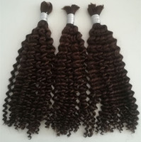 Wholesale Brazilian Hair Bulk 5a - Grade 5a virgin brazilian deep wave hair 100g set 3pcs lot no weft human hair bulk for braiding unprocessed hair products dhl free
