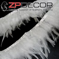 Wholesale China Wedding Dress Factory - China Trading Manufacturer ZPDECOR Factory 5-6 inch Pretty Bleached White Rooster Saddle Feathers Trim for Wedding Dress