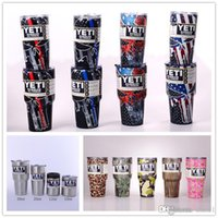 Wholesale 12 Lid Stainless - 2018 Hot Sell Yeti Cups Stainless Steel Tumblers 20 30 12 10oz Cups Vacuum Insulated Tumbler with Lid Colourful Mugs High Quality Goods