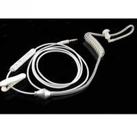 Wholesale Wholesale Air Tube Headset - Wholesale-3.5mm In Ear Anti-radiation Earphone Air Tube Stereo Headset flexible Monaural Headphones with Mic for Xiaomi iPhone Samsung MP3