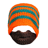 Wholesale Funny Costumes Sale - Wholesale-Hot Sale Warm Knitted Winter Hat adult Funny Beard Hat For Man Cool Woolen Hip Hop Hat