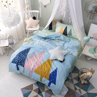 Courtepointes Pour Ados Pas Cher-Hope Tree Bed Comforter Quilts Set Dovet Covers Literie Oreiller Sham Bedspreads 100% coton Teen Children Christmas Gift Twin Size Chambre