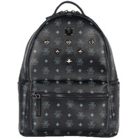 Men black sequin bag - Japanese and Korean version star necessary joker sequins package metal rivet punk wind backpack large size cm