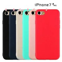 Wholesale Rubber Colorful Cell Phone Cases - Colorful Matte Soft TPU Case For Iphone 7 I7 Iphone7 7TH Plus 6 6S SE 5 5S Ultrathin Silicone Rubber Cell Phone Cases Back Skin Cover 100pcs