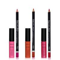 Wholesale trade easy - Matte Lip Gloss + Lip Liner Kit Kit 16 colors lipstick make-up trade 1set
