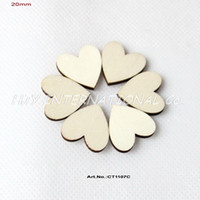 "Wholesale Wooden Ornaments Bulk - (120pcs lot) 20mm Blank Cutout Love Wood Crafts Earrings Bulk Wooden Hearts ornaments 13 16"" -CT1107C"