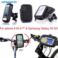 Wholesale Bicycle Mount Galaxy S3 - Universal Auto Waterproof Motorcycle Bike Bicycle Mount Phone Holder Bag Case soporte for iPhone 6 6S Samsung Galaxy S3 S4