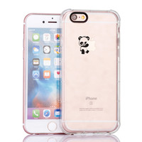 Lovely Cute Panda Hug Logo per iPhone 5 / iphone 5S / iphone 5E Cover rigida resistente ai graffi in TPU (CLEAR)