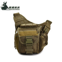 bel çantası ordusu toptan satış-Tactical Messenger Bag Military Molle Camera Bag Outdoor Casual Waist Pack Army Fans Durable Single Shoulder Bag