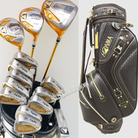 Wholesale golf clubs bag - New Golf clubs HONMA S-03 4 star Complete Clubs set Golf driver+fairways wood+irons+putter+bag Graphite shaf wood headcover Free Shipping