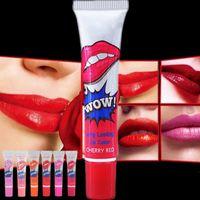 Wholesale Natural Pack Mask - Fashion Lip Gloss TATTOO Megic Color Peel Mask Tint Pack Long Lasting 6 types