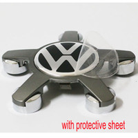 ruedas vw al por mayor-4x para el envío gratuito de VW Five Claws Reemplazo de la rueda Tapas centrales Cubiertas de rueda para VW Eos GTI Tiguan Golf B6 Passat / 105MM