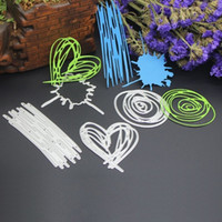 Wholesale Metal Die Cuts - Sketch DIY Metal Cutting Dies Stencil Scrapbook Card Album Paper Embossing Crafts